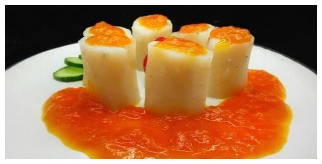 美食推荐:金汤山药,春笋蟹味菇,滑炒藕片,鲢鱼炖豆腐的做法