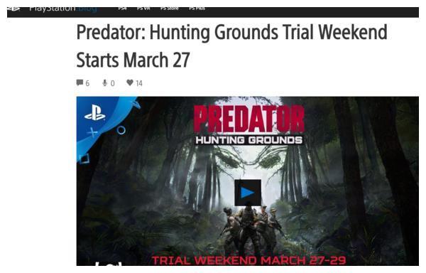 《铁血战士:狩猎场》3月27日开启试玩 支持跨平台联机