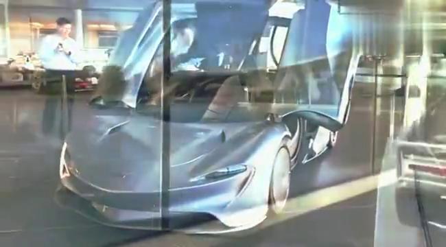 油电混合的迈凯伦,造型犹如回到未来