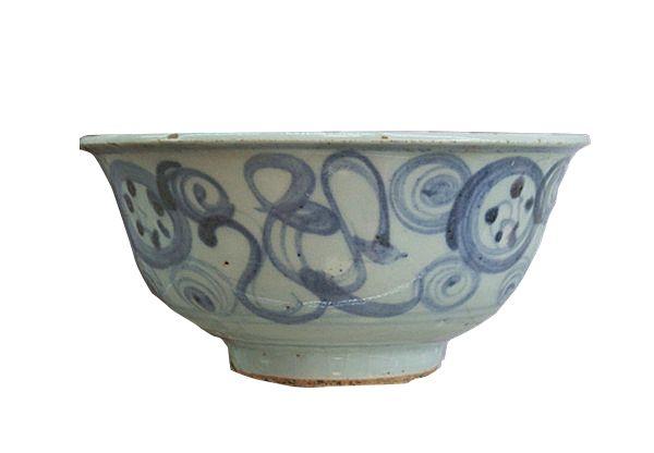 游河南洛阳的博物馆,看明代各式青花碗!虽是民窑品,却很珍贵!