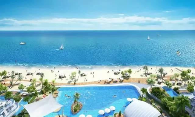 畅游网红无边际泳池,惠州双月湾君廷度假酒店期待您的光临