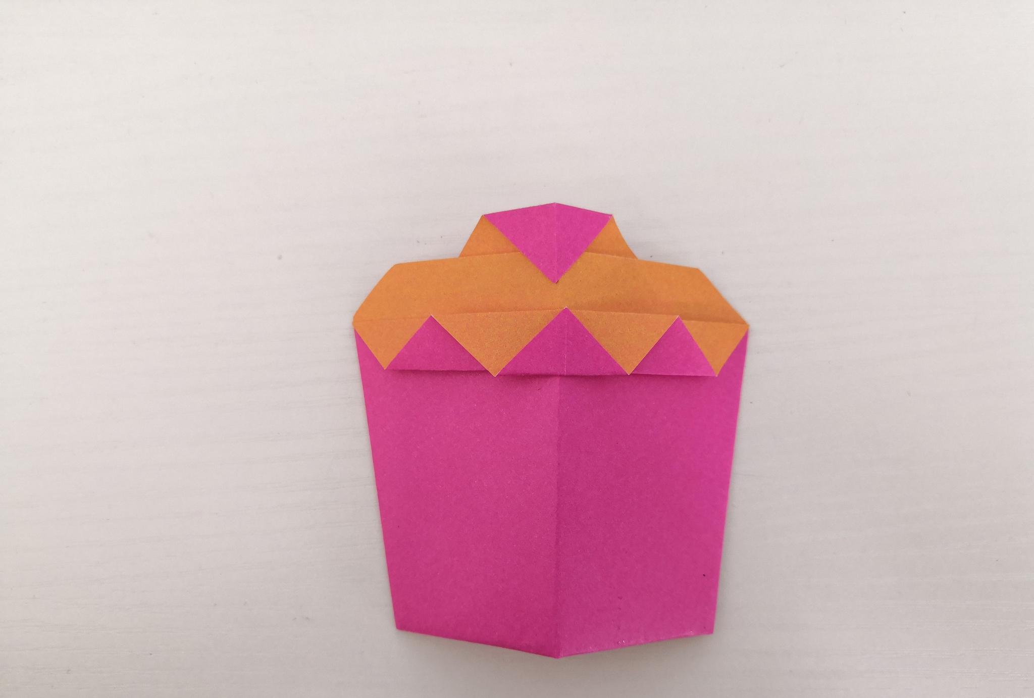 育儿:美味的小蛋糕,看着就想吃,赶快动手折一折吧