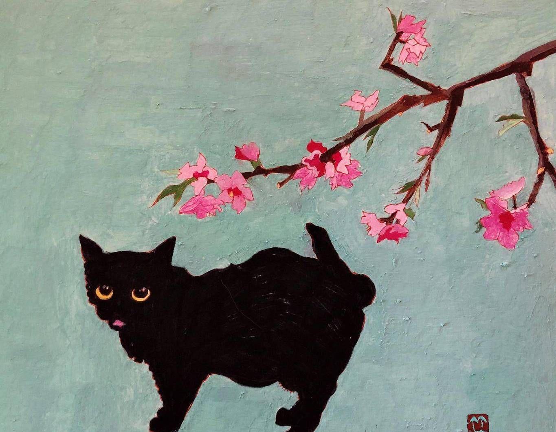 鲁迅美术学院毕业生杨竹喧关于猫的绘画作品(五)