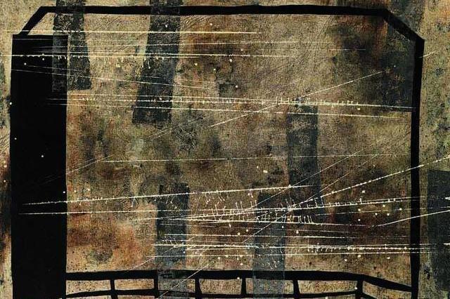 当代油画写意大师王怀庆,用水墨调解黑与白对抗,油画作品欣赏!
