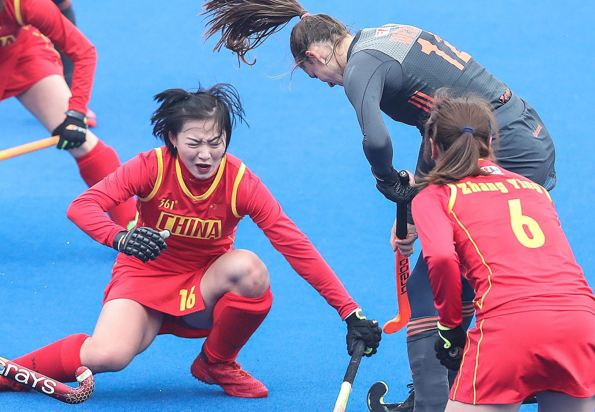 曲棍球——世界女子超级联赛:中国队再负荷兰队