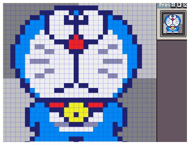a5机器猫哆啦a梦像素画网格画图案