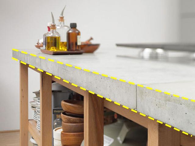 用水泥做厨房台面,比大理石还漂亮实用,自己动手做橱柜太会省钱
