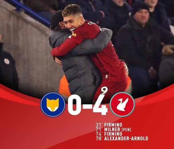 4-0,35场不败!利物浦再创26年一神迹,少赛一场已领先13分