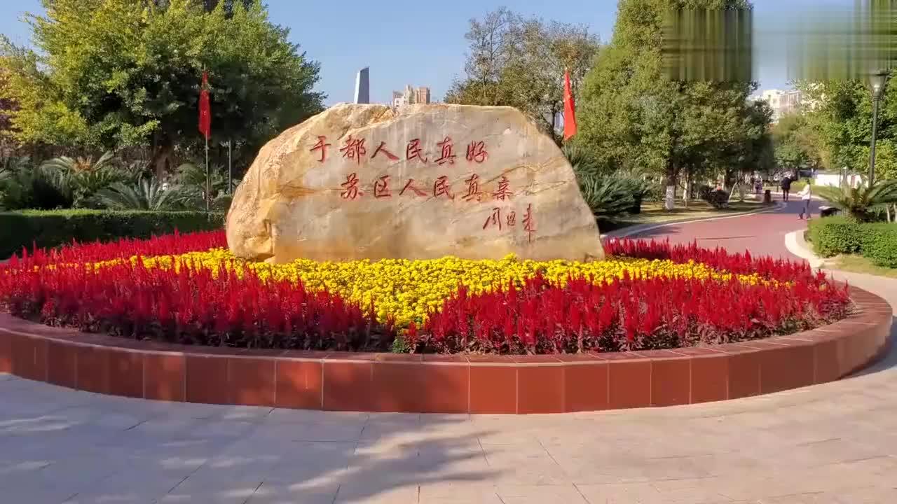 赣州于都县东门渡口,中央红军长征第一渡,每天都有大量人来参观