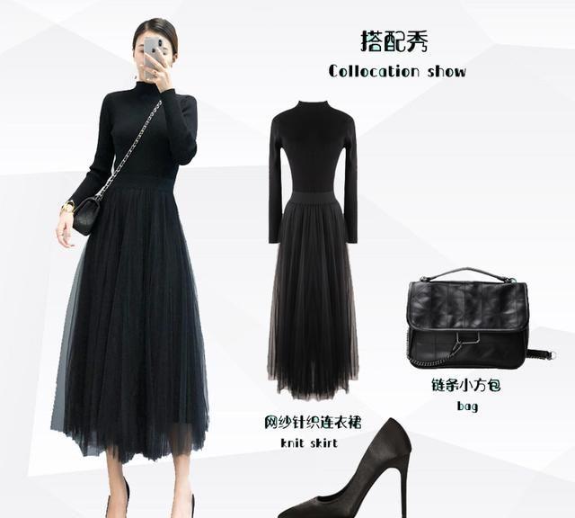 四套优雅风冬季连衣裙穿搭示范,你也如此有女人味!