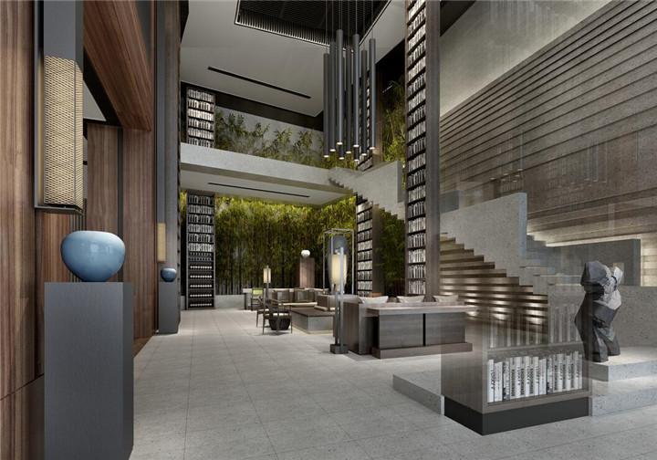 酒店大厅装修效果图 酒店室内大厅设计效果图大全图片