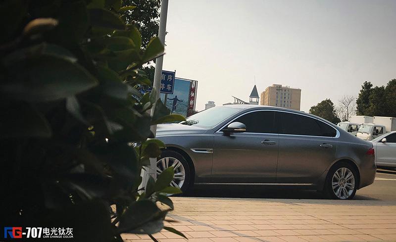 捷豹XFL车身改色电光钛灰 RG瑞集改色膜浙江永康加盟店出品