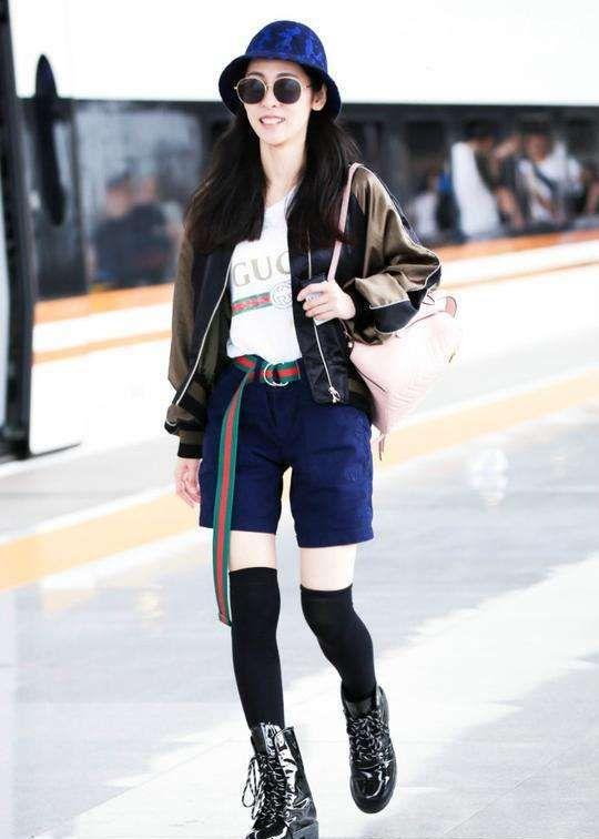 28岁的张碧晨和30岁的吉克隽逸同穿短裤,白皙的她居然输了!