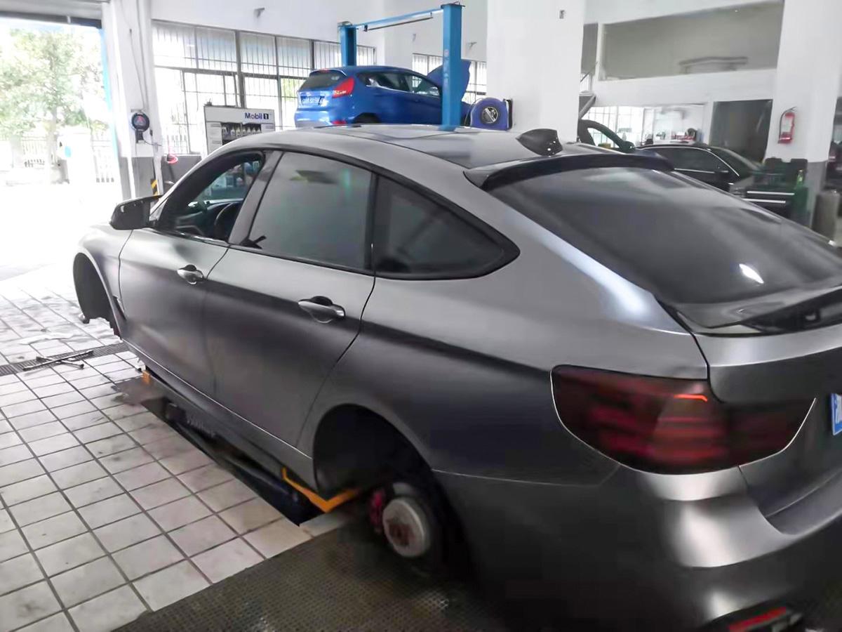 宝马3系GT车身改色电光钛灰 RG瑞集改色膜宁波江北加盟店出品