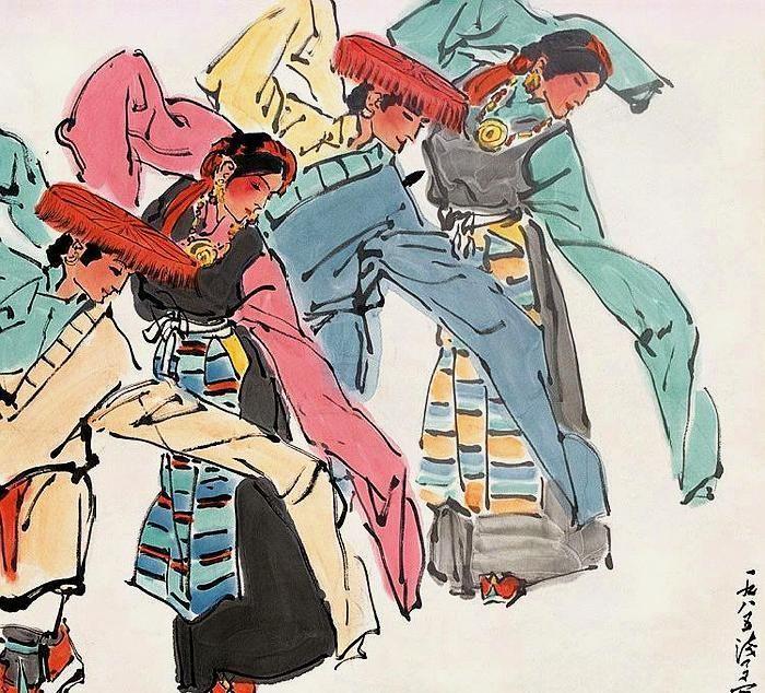 栩栩如生笔墨巧,形神逼真皆神妙,叶浅予12幅舞蹈人物画欣赏