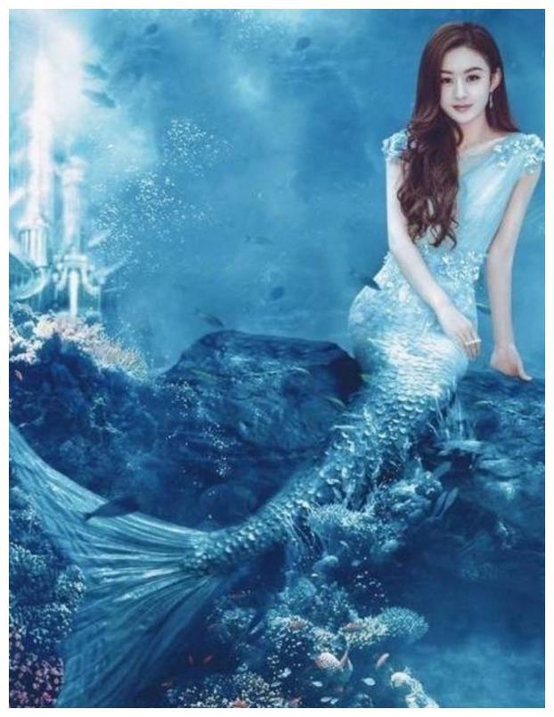 明星美人鱼造型,马天宇惊艳,赵丽颖真美,最后一个是苏有朋吗?