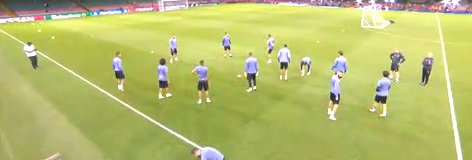 欧冠决赛-C罗率皇马全队踩场训练
