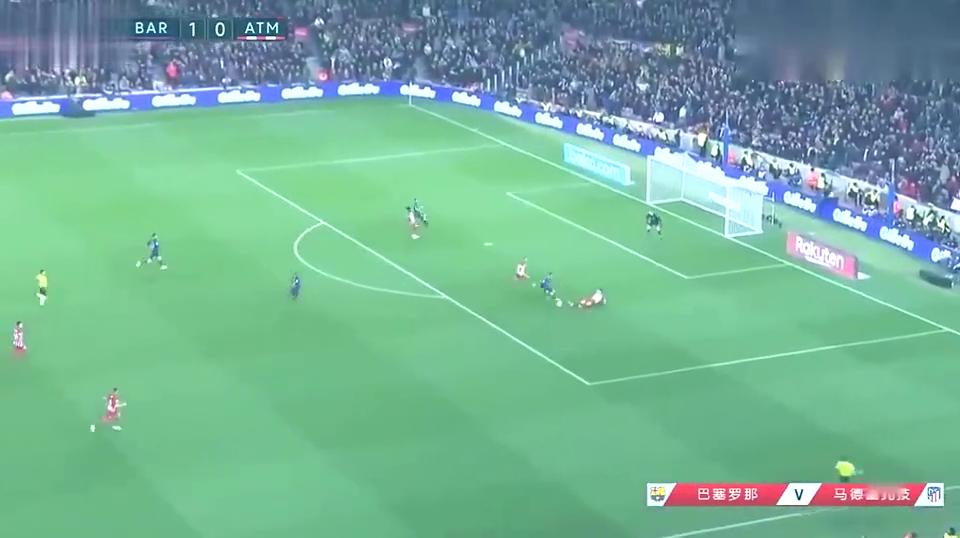 西甲 苏亚雷斯进球梅西进球 两分钟内进两球 巴萨2 0完虐马竞!