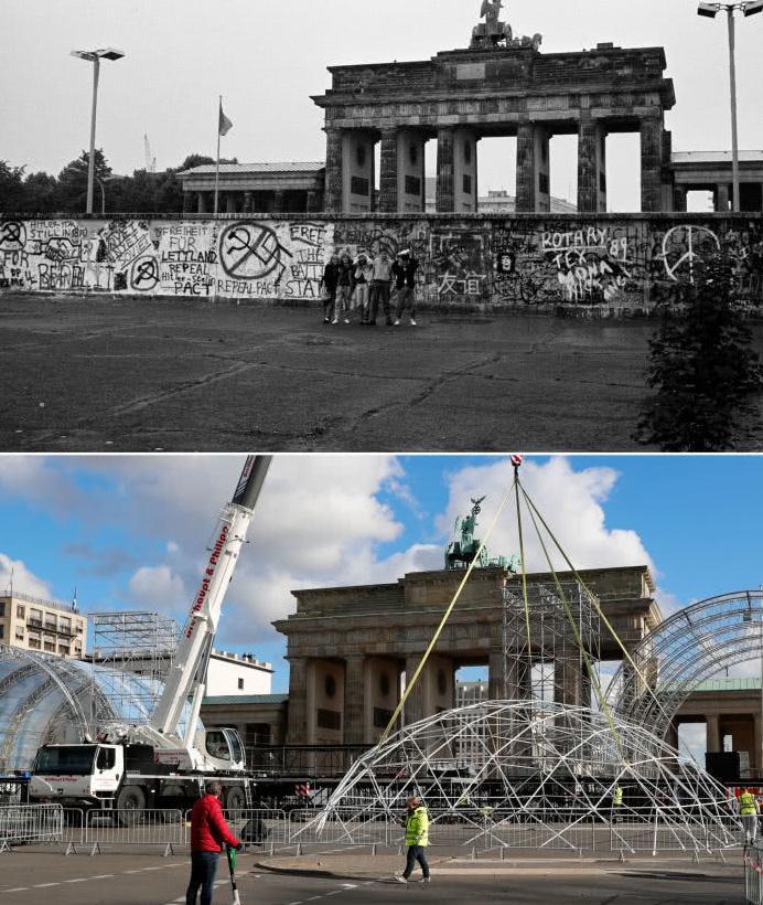 回首柏林墙的倒塌:曾经的铁幕,如今已经是一片祥和