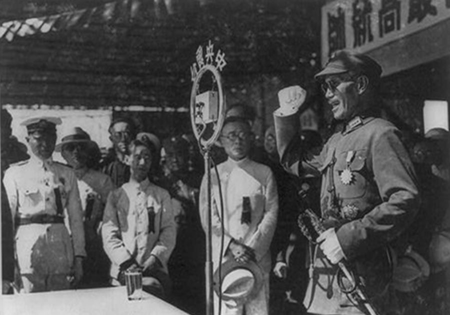 老照片:抗战时期的蒋介石