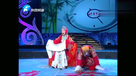 河南省京剧院的金鑫登台表演京剧《凤还巢》选段,演得太好了