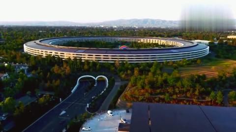 苹果飞船总部大楼Apple Park园区,最新航拍视频太震撼了