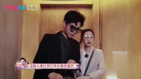 陈芊芊和婆婆说话,不料婆婆在化妆,最后还是老公接了话头