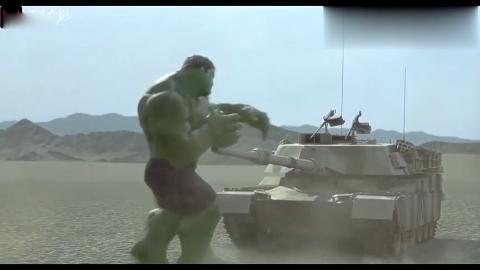 绿巨人几辆小坦克竟跟浩克打结果炮管都被弯到坦克里太逗了