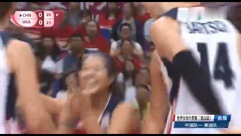 世界女排大奖赛,中美之战,中国队22 25先失一局