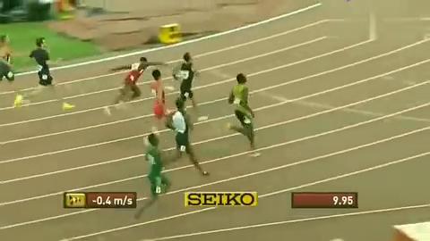 博尔特和苏炳添百米赛跑,难以超越的0.1秒!