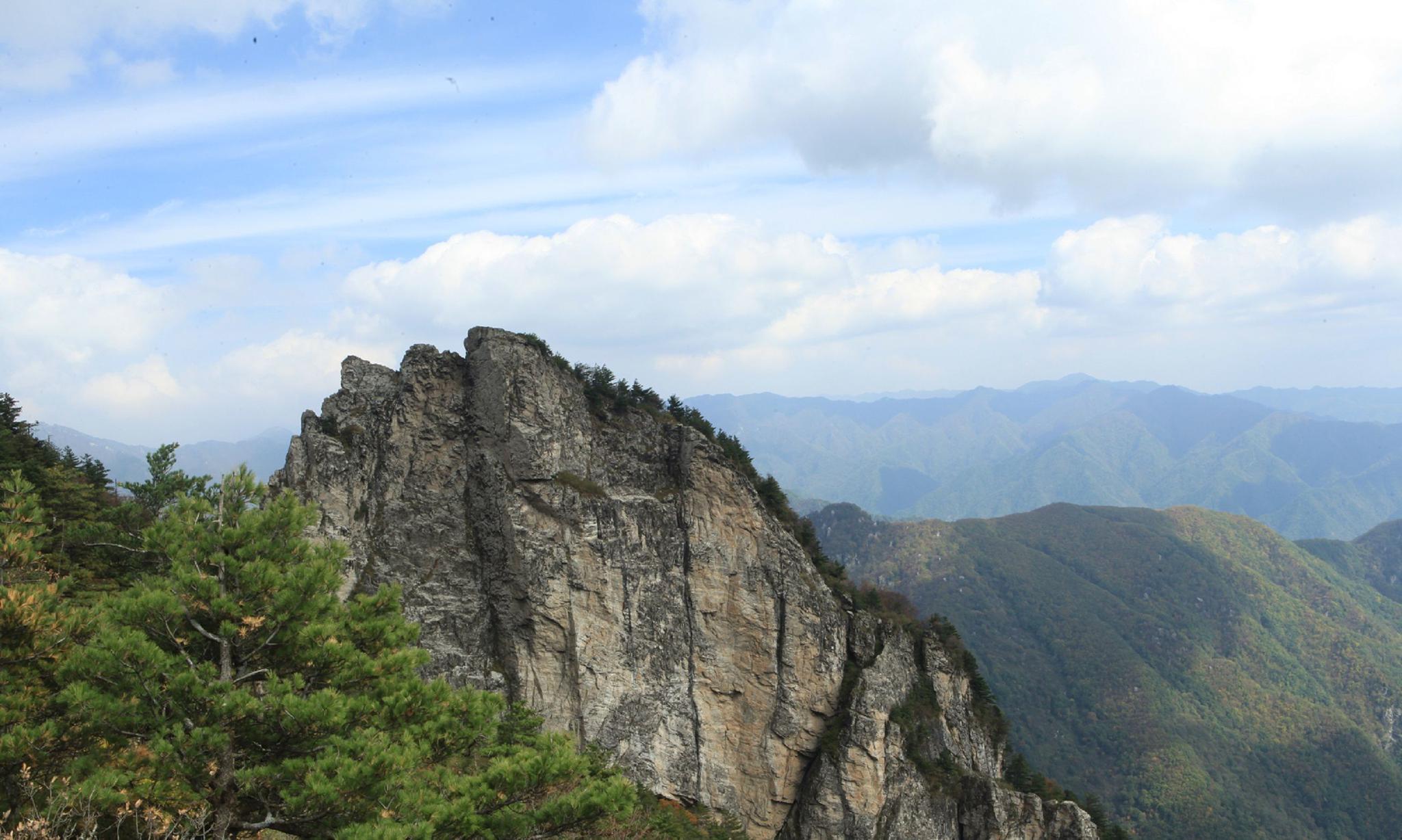 秦岭四宝之一的羚牛栖息地,连绵的群山之中风光无限美