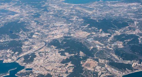 飞机上航拍大连,这座美丽的滨海城市,天蓝海阔像童话中的城市