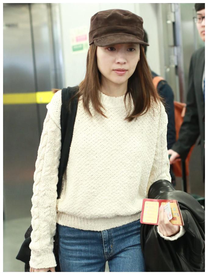北京机场遇见演员董洁