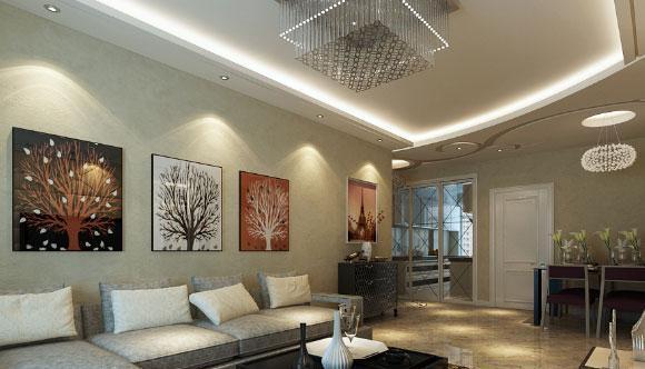 现代风格三房装修,电视墙效果真奢华,客厅阳台隔断柜最实用!