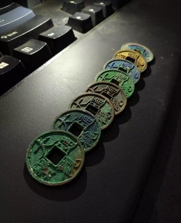 古钱币收藏,锈色占七成