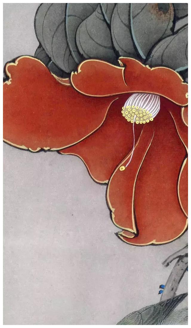 李晓明工笔画《茶花白头图》绘制步骤分享