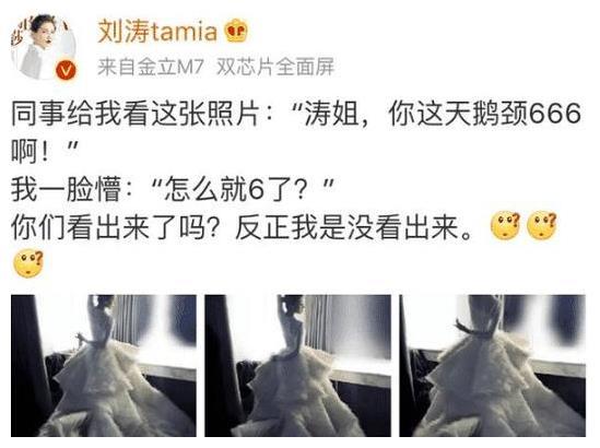 刘涛晒照,网友喊话刘诗诗:好意思晒?看完她的照片先啦