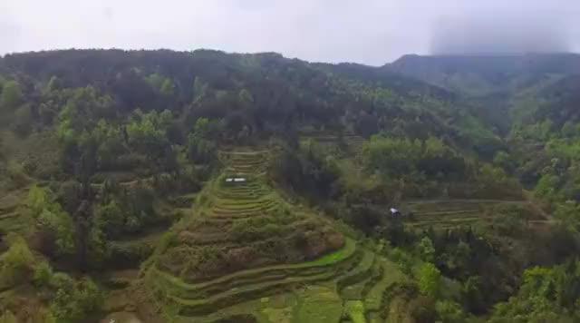 航拍贵州大山里,一户人家独占一个山头,风水宝地必出状元