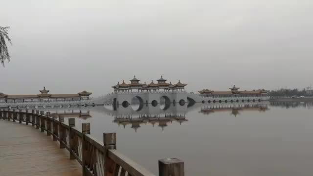 大荔沙苑南湖。