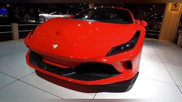 车展实拍:法拉利F8Tributo,霸气超跑宛如艺术品