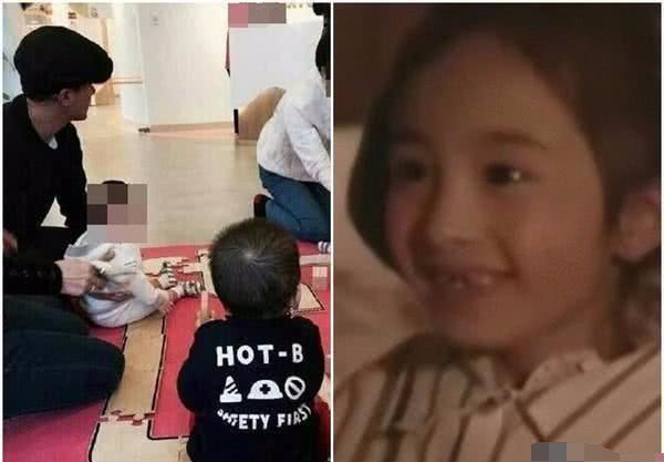 杨幂机场送女儿小糯米,心情低沉蹲下为女儿擦泪!让人心疼图片