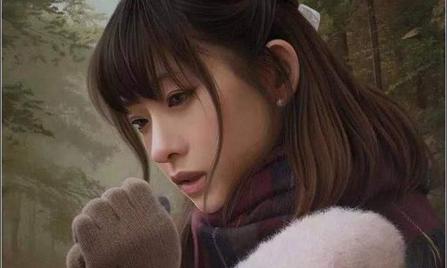 """日本画家一幅""""水中少女""""图火了,当放大10倍再看,众人傻眼了"""