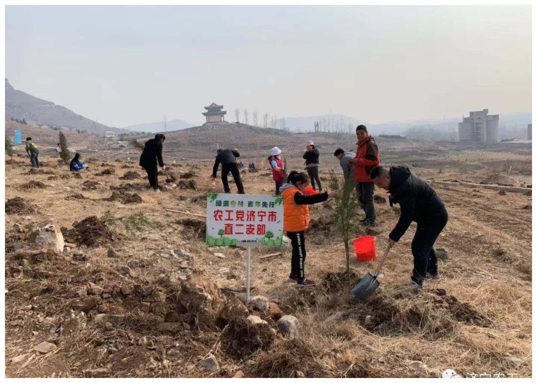 农工党济宁市直二支部开展植树活动