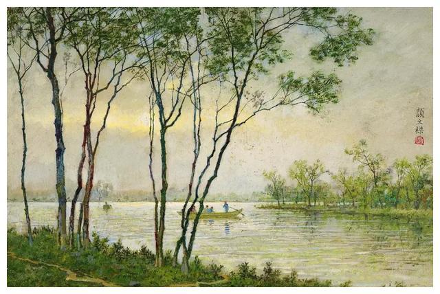 中国首位获得国际绘画大奖画家颜文樑风景油画欣赏