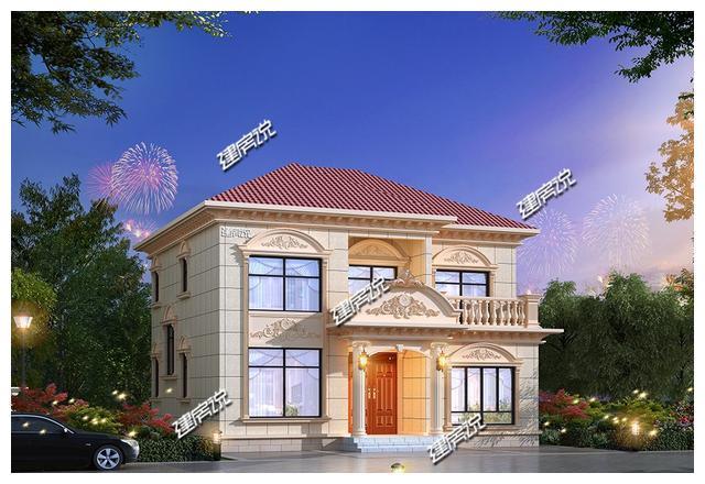 3套二层农村别墅,设计太美了,最低造价25万,老乡们抢着建