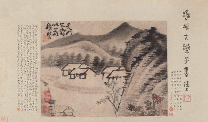 苍郁恣肆,构图新奇,石涛山水画作品欣赏