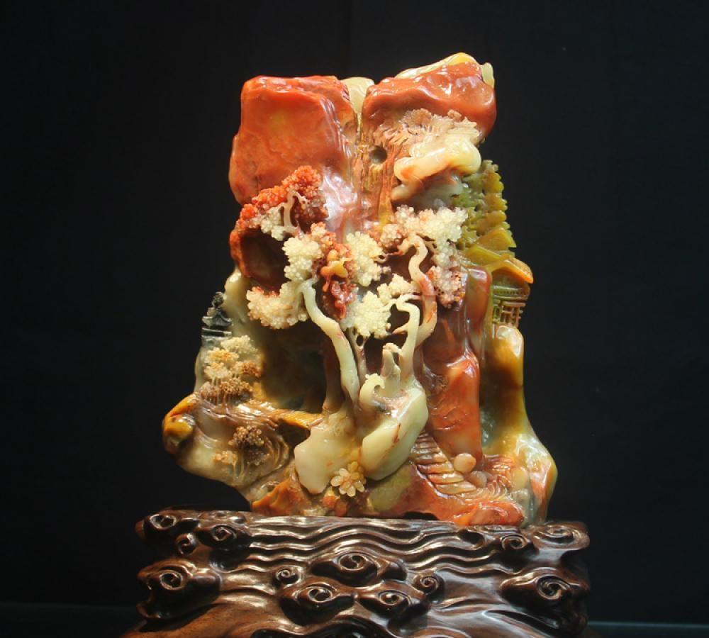 大自然有一种奇石:寿山芙蓉石,原来这些寿山石雕才是藏家的真爱