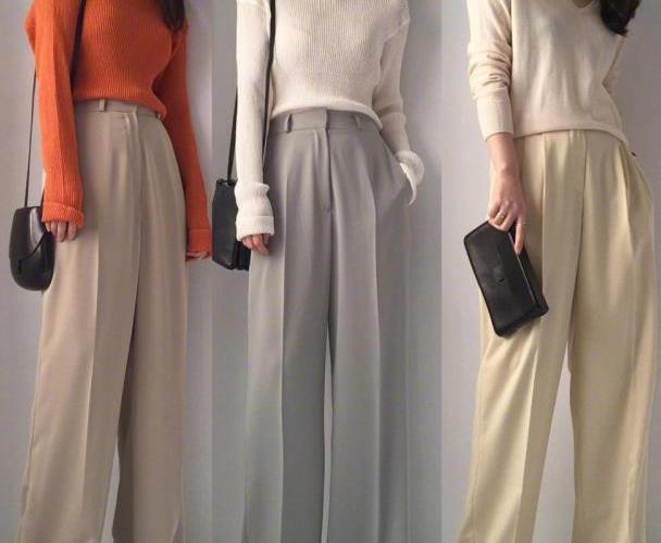 阔腿裤的21种搭配,这样穿更显瘦,一起变身时尚女神