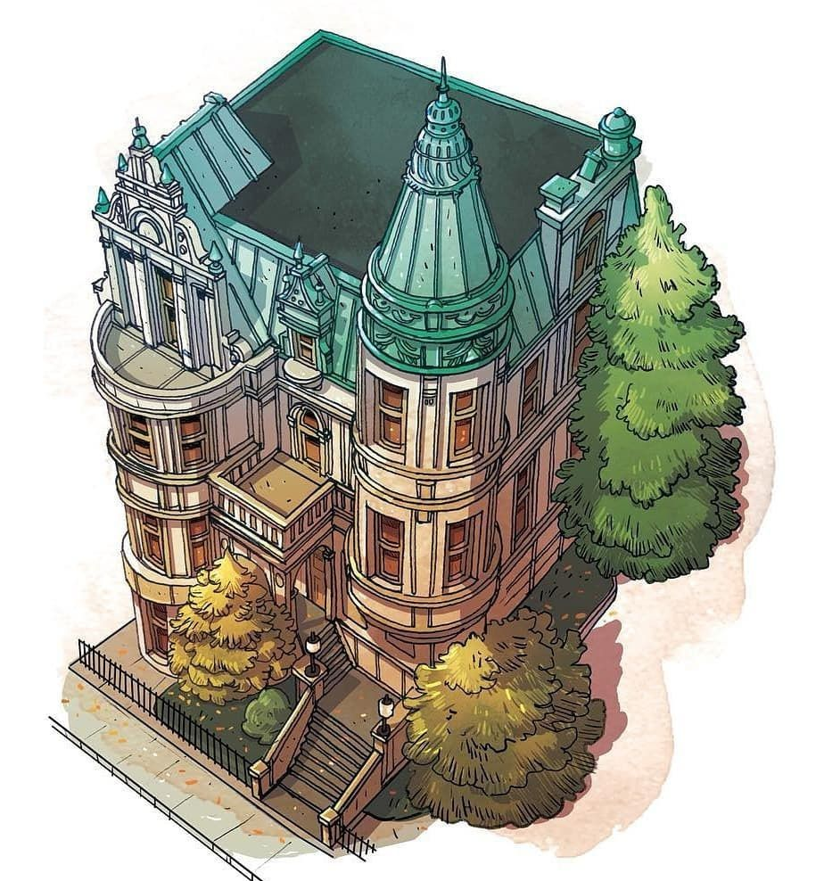 各式各样的房屋 立体建筑设计