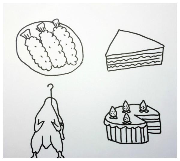 卡通食物简笔画图片大集,可爱极了,手帐一族必备